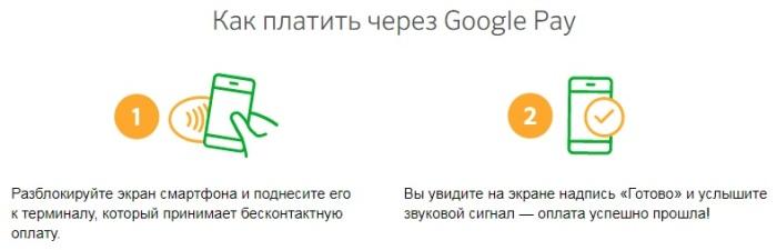 оплата через Google Pay