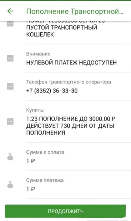 Проведение платежа