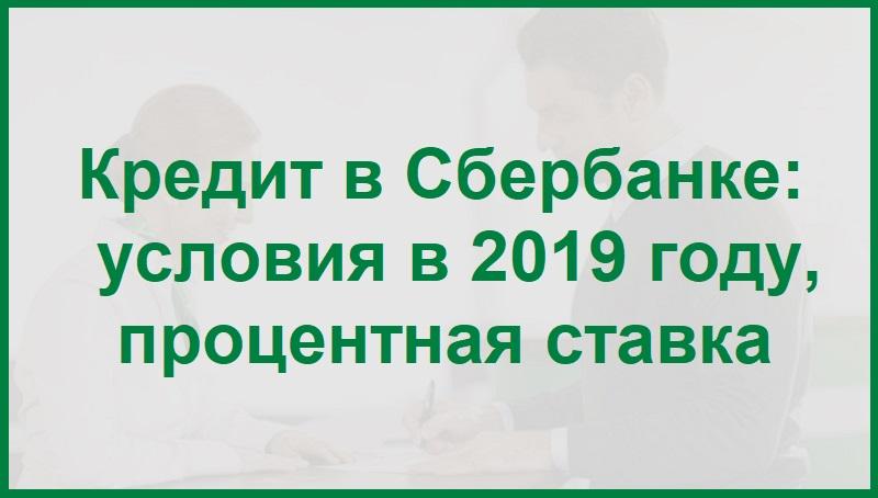 Кредит в Сбербанке: условия в 2020 году, процентная ставка